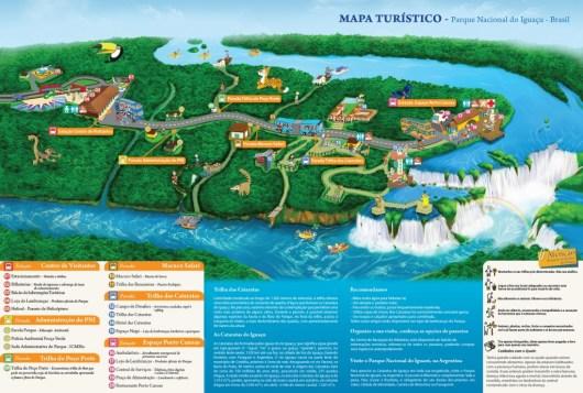 Mapa turístico Parque Nacional do Iguaçu