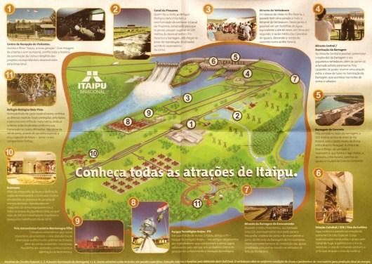 Mapa turístico - Usina de Itaipu