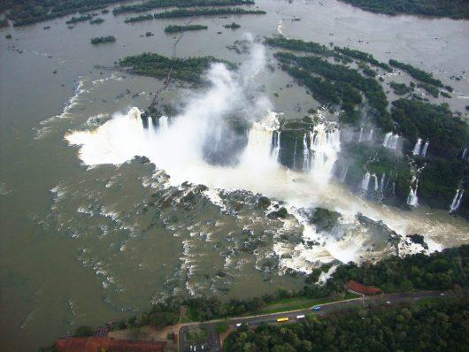 Vista passeio helicóptero - Foz do Iguaçu