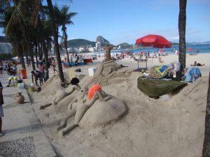 Esculturas de areia - Praia de Copacabana