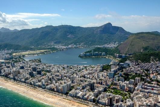 Vista da Praia de Ipanema no Rio de Janeiro