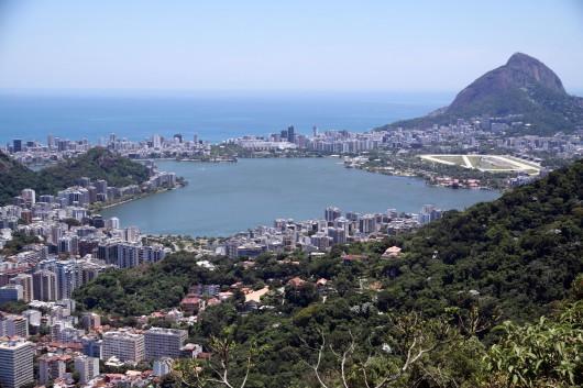 Vista de cima - Lagoa Rodrigo de Freitas