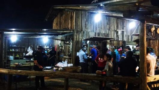 Piquete no acampamento farroupilha