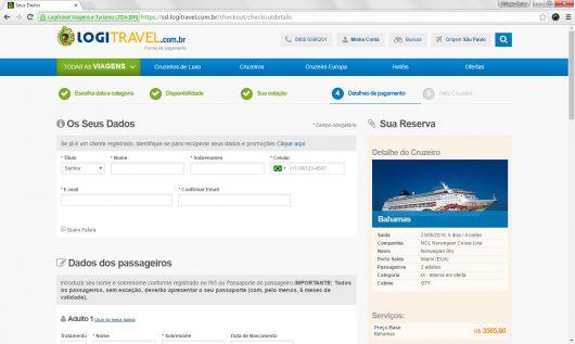 Dados dos passageiros LogiTravel
