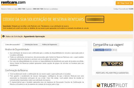 Detalhes da reserva - Rentcars
