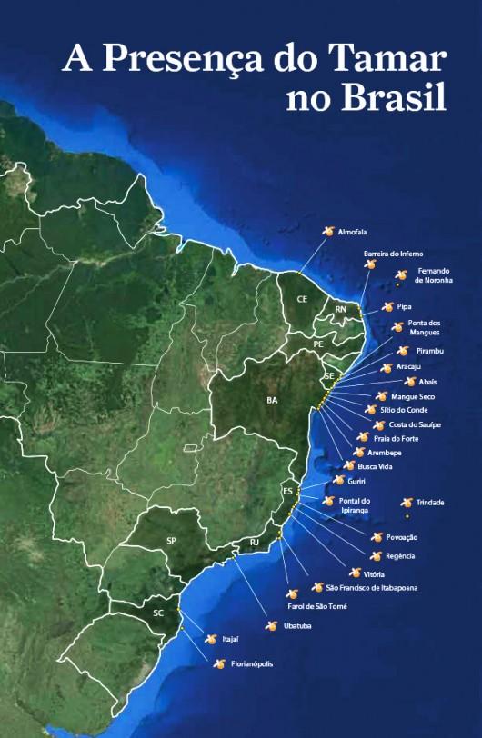 Mapa Institutos Tamar