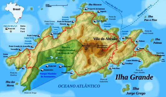 Mapa de Ilha Grande - RJ