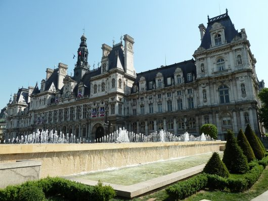 Hôtel de Ville em Paris na França