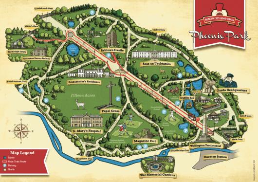 Mapa do Phoenix Park