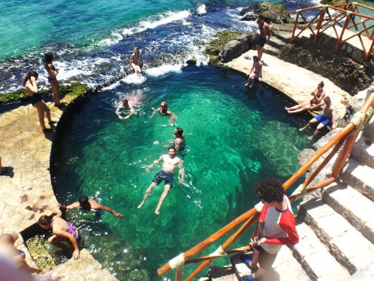 Piscina natural no Xcaret