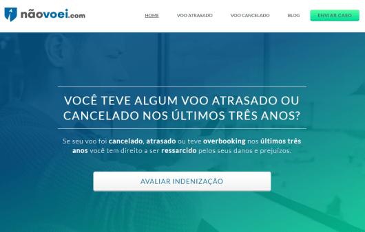 Site da NãoVoei.com ajuda com indenizações