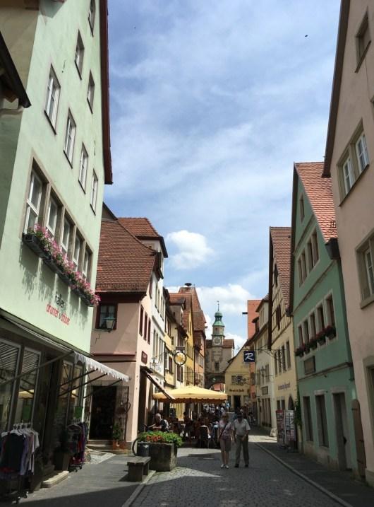 Rua de Rothenburg ob der Tauber