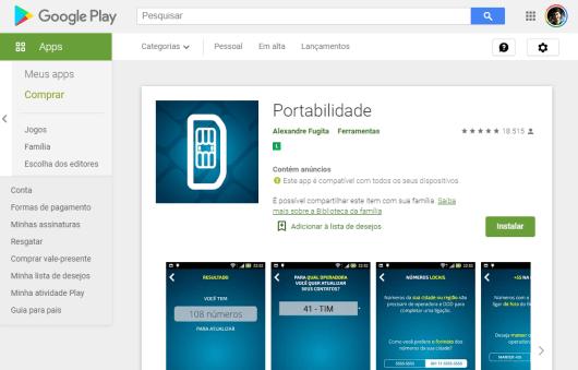 Aplicativo Portabilidade para IOS e Android