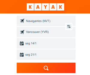 Passagens aéreas Kayak