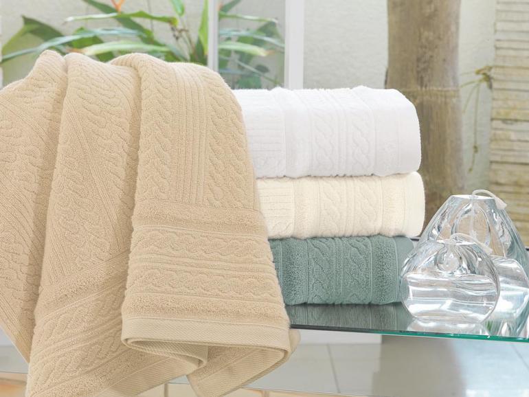 Resultado de imagem para toalha Fio retorcido