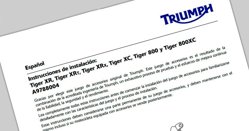 Tutoriales, Manuales de taller y Bricos de la Triumph