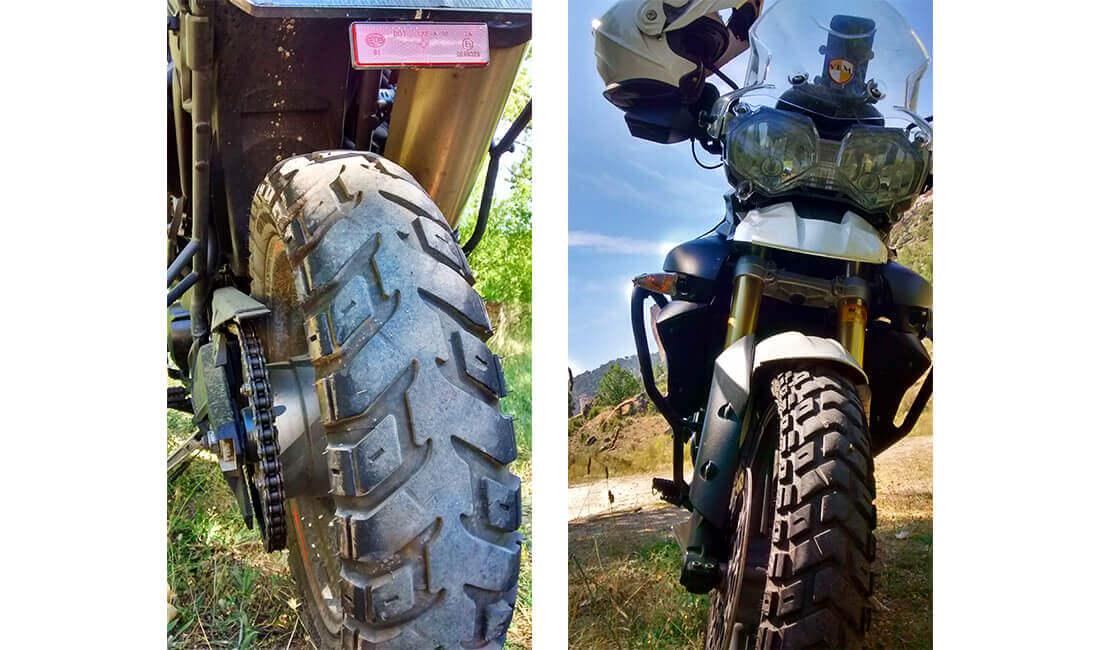 Neumáticos trail Heidenau K60 Scout en Triumph Tiger 800