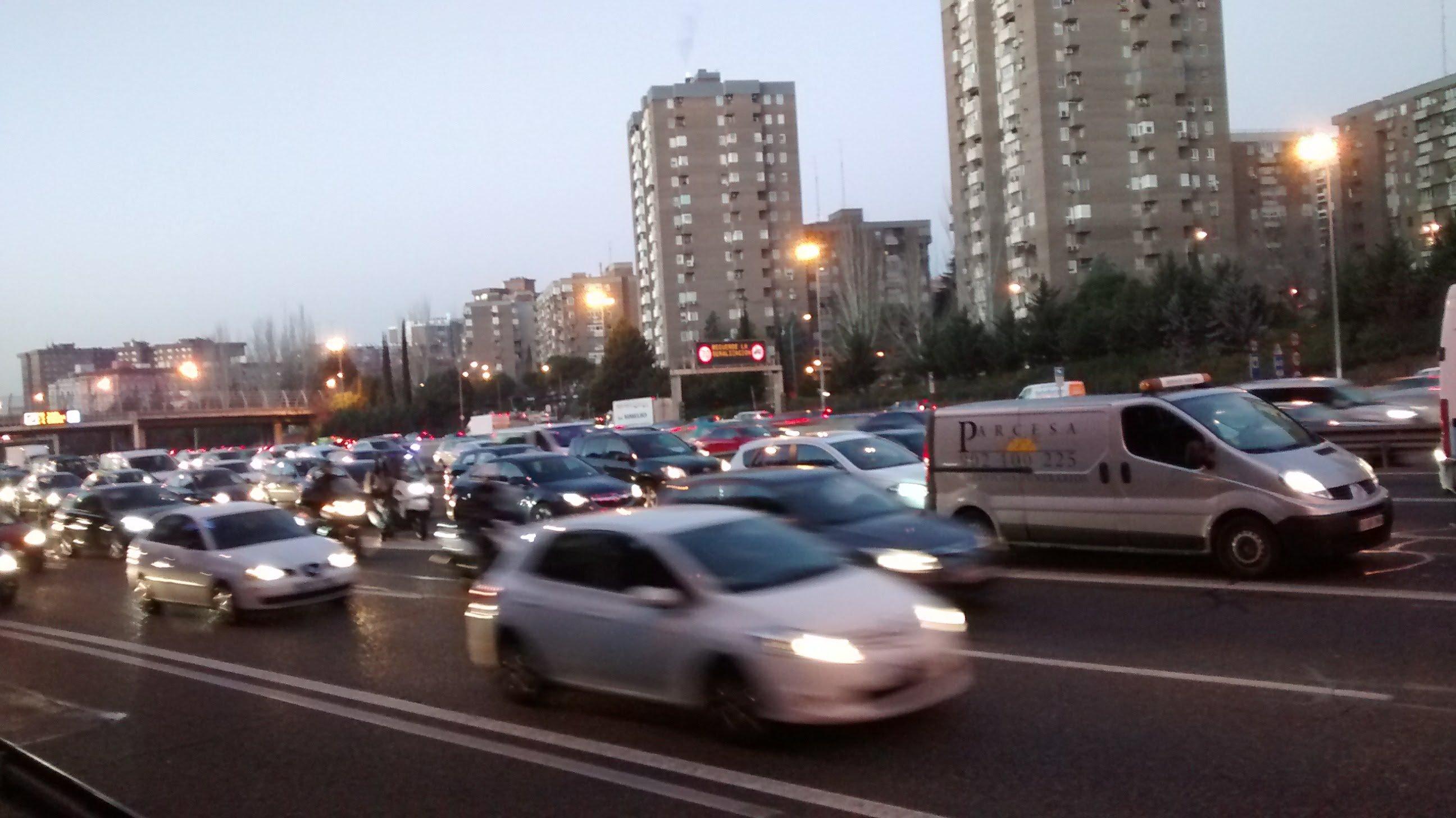 tráfico en la m30 de Madrid