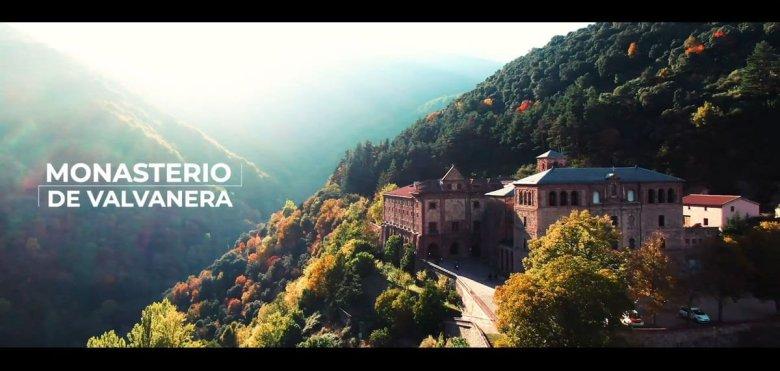 Imagen aérea del monasterio de valvanera, la rioja