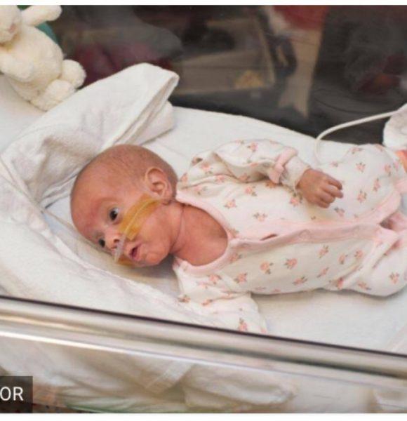Poppy, la bebé que nació del tamaño de una pelota de tenis