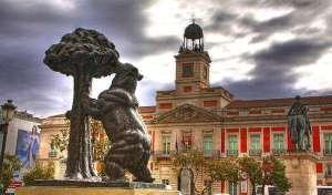 Медведь и Земляничное дерево в Мадрида на Пуэрта-дель-Соль