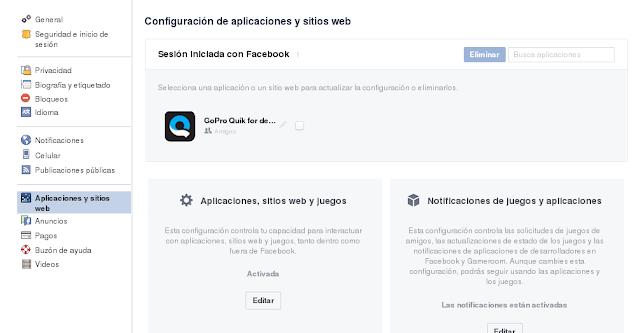 Como deshabilitar las aplicaciones que tienen acceso a tu cuenta Facebook