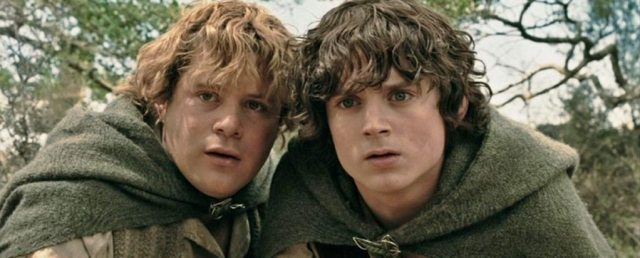 Frodo e Sam do Senhor dos Anéis