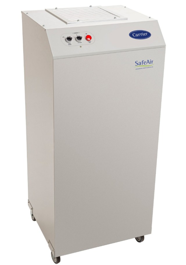 Carrier lança novo sistema de purificação de ar portátil capaz de eliminar vírus e bactérias, incluindo o covid-19