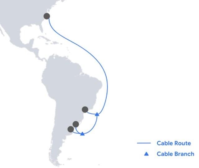 Google anuncia a chegada do cabo submarino Firmina