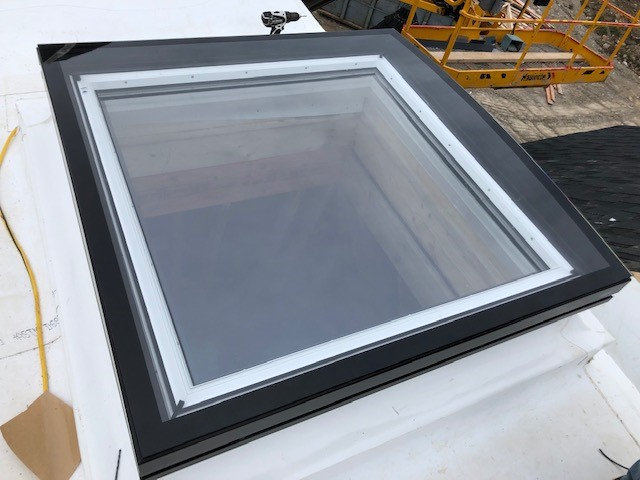 TPO Flat Roof installation - skylight