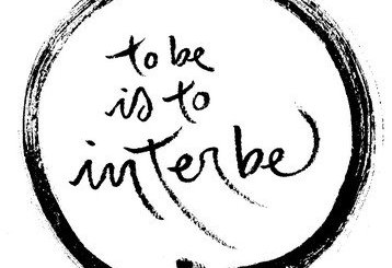 01 calligraphy to+be+is+to+interbe - Ser é Interser