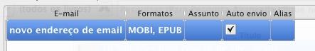 Email Kindle via Calibre - configuração 03