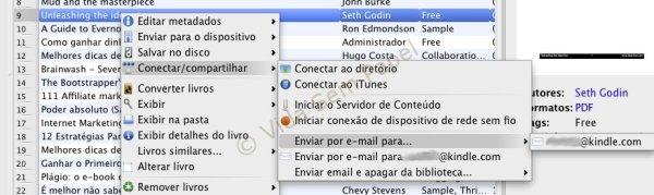 Email Kindle via Calibre - emvio de email 02