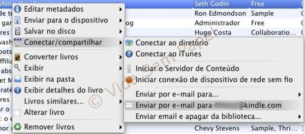 Email Kindle via Calibre - emvio de email 01