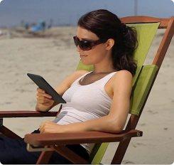 Kindle com acesso 3G na praia