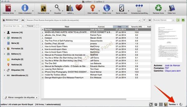 Como converter arquivos PDF no Calibre 11