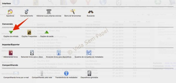 Como converter arquivos PDF no Calibre 18