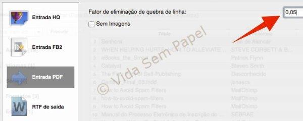 Como converter arquivos PDF no Calibre 19