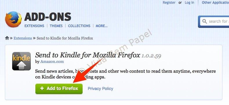 Como ler páginas da web no Kindle com o Send to Kindle