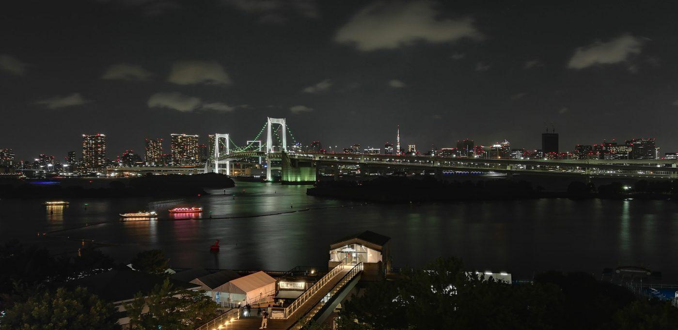 Rainbow Bridge, Nómada digital em Tóquio, no Japão.