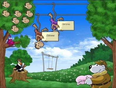 Lesetraining mt Affen