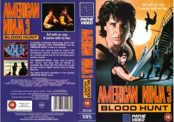 American Ninja 3 Blood Hunt Video Artwork
