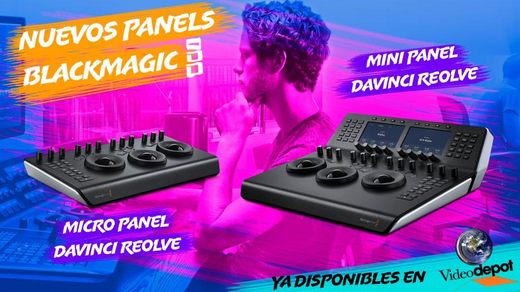 Nuevos paneles para corrección de color Blackmagic