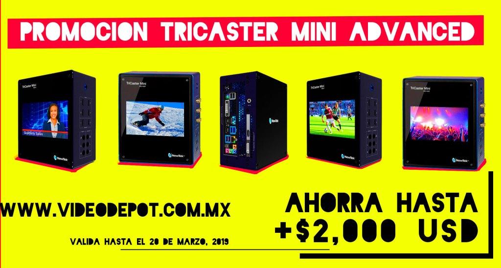 Promoción TriCaster Mini