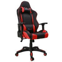 [Big and Tall Version] Kinsal Gaming Chair, Large Size Racing Chair, High-back Ergonomic Computer Chair , Leather Swivel Executive Office Chair Including Headrest and Lumbar Pillow (Red)