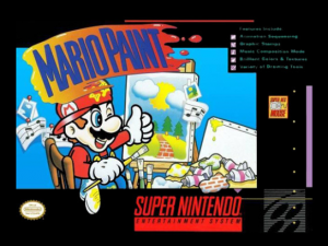 Mario Paint was sort of a suite of creative programs for the SNES.