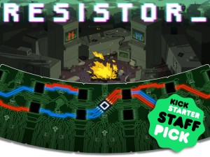 Resistor, a strategy card game, was developed by Cardboard Fortress