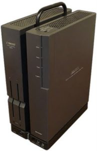 The systems twin-tower design is striking even today and puts most drab computer case designs of the era to shame.