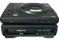 Megadrive and Mega CD Mark 1.