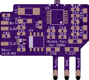 OSSC Audio Board Upgrade